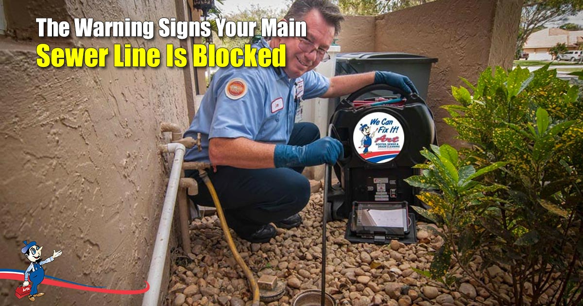 blocked main sewer line