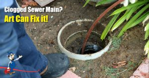 Clogged Sewer Main