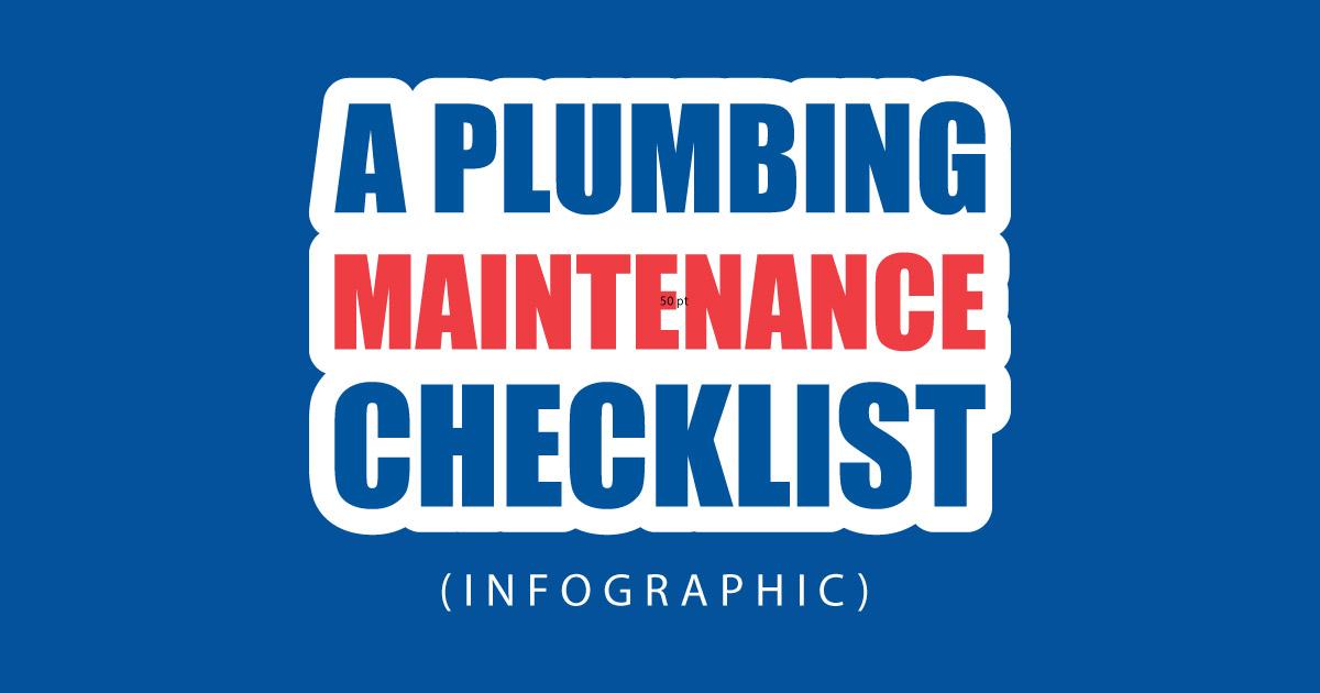 Plumbing-maintenance-checklist