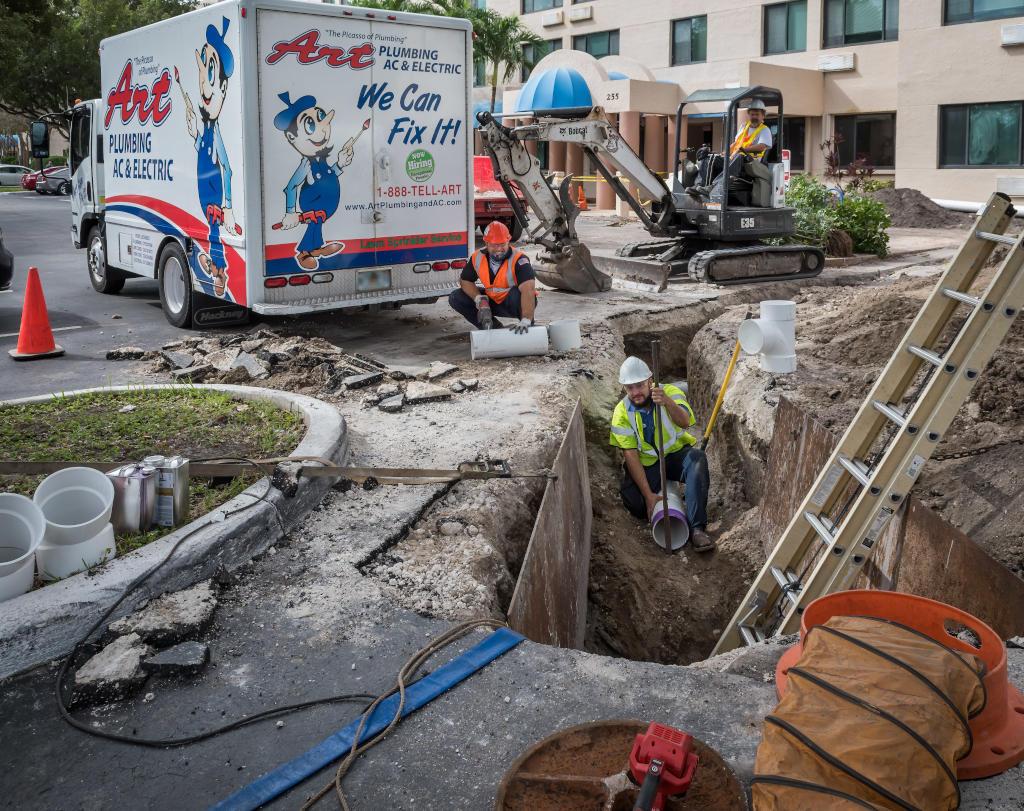 broken sewer pipe repair