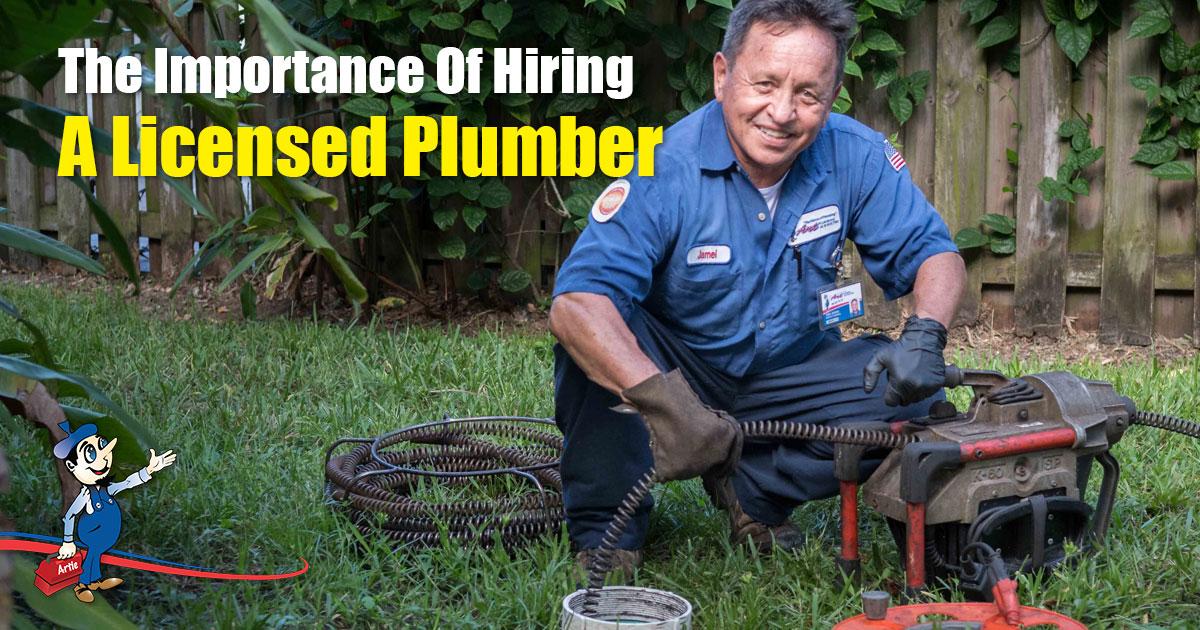 licensed plumber